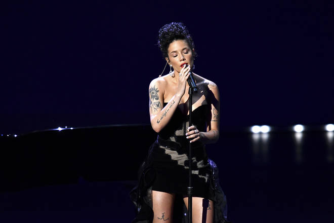Halsey performing Cyndi Lauper's 'Time After Time' at the Emmy's