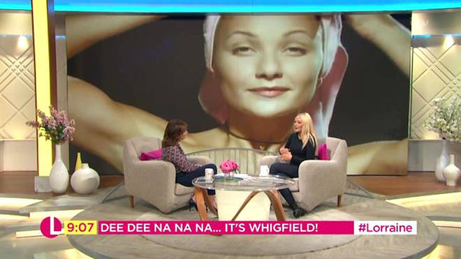 Lorraine speaking to Whigfield