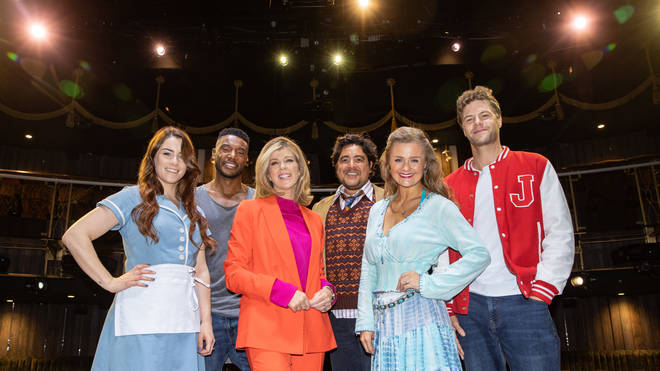 Kate Garraway with theatre stars for her West End Takeover