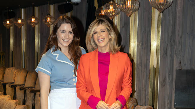 Kate Garraway with Waitress star Lucie Jones