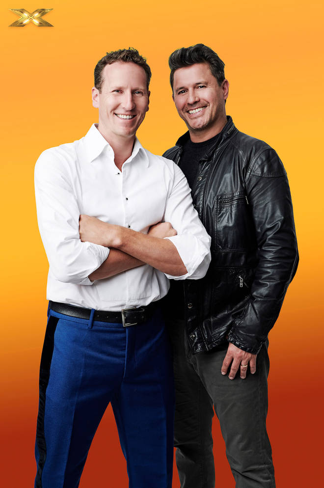 The X Factor Celebrity 2019: Jeremy Edwards (right) with Brendan Cole (left)