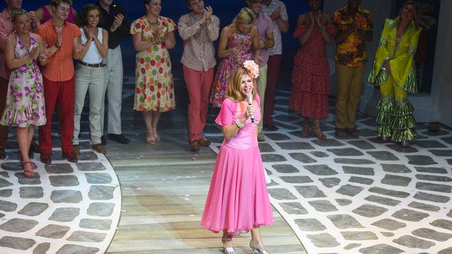 Kate Garraway on stage at MAMMA MIA!