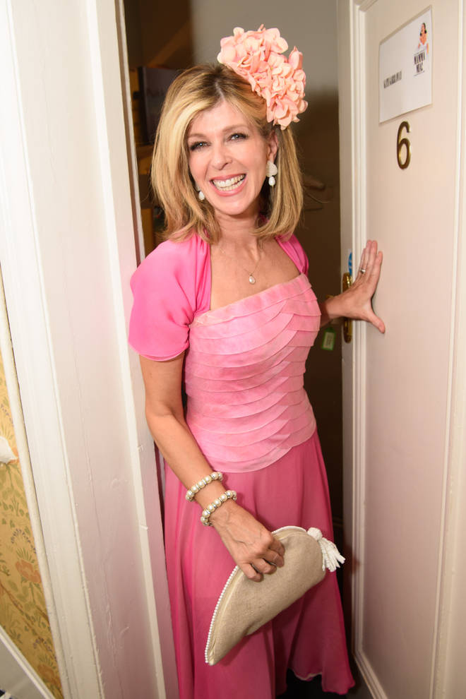 Kate Garraway backstage at MAMMA MIA!