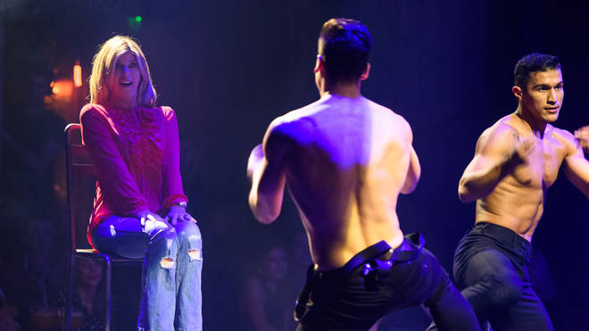 Kate enjoying herself at Magic Mike Live