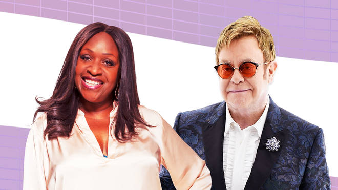Angie Greaves and Elton John