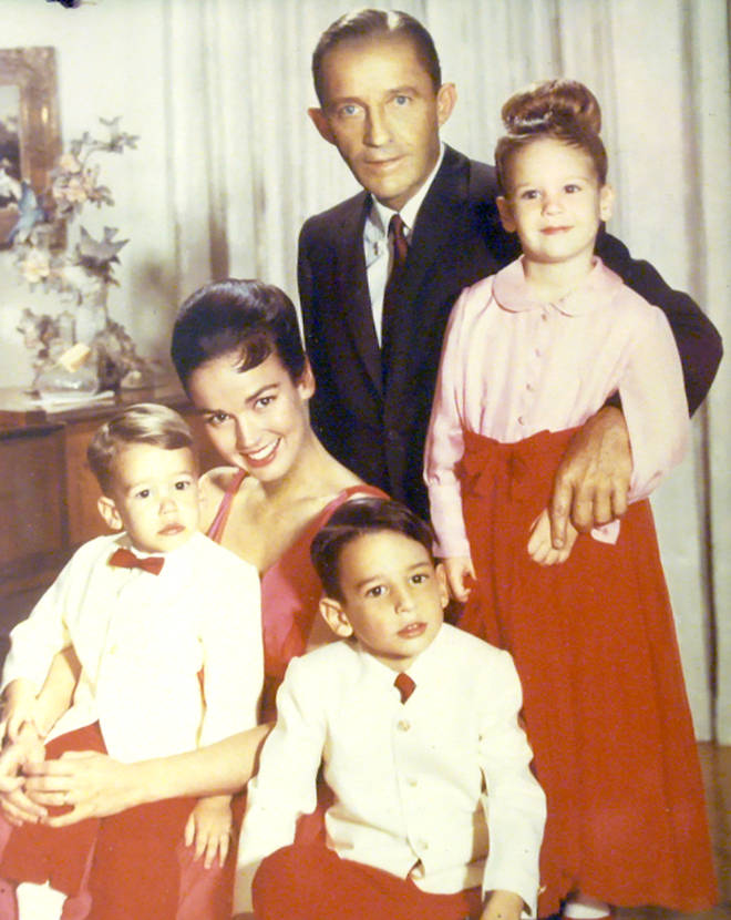 Bing Crosby with his family at Christmas