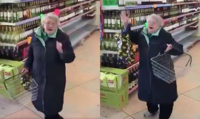 Granny enjoys a boogie to Steve Wonder's 'Part Time Lover'