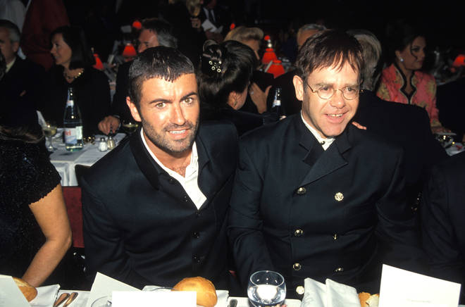 George Michael with Elton John in 1994