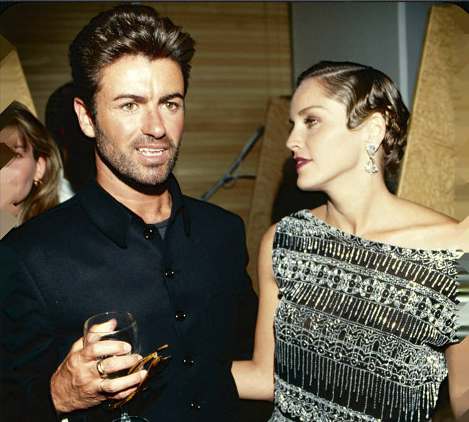 George Michael with Sharon Stone in 1994