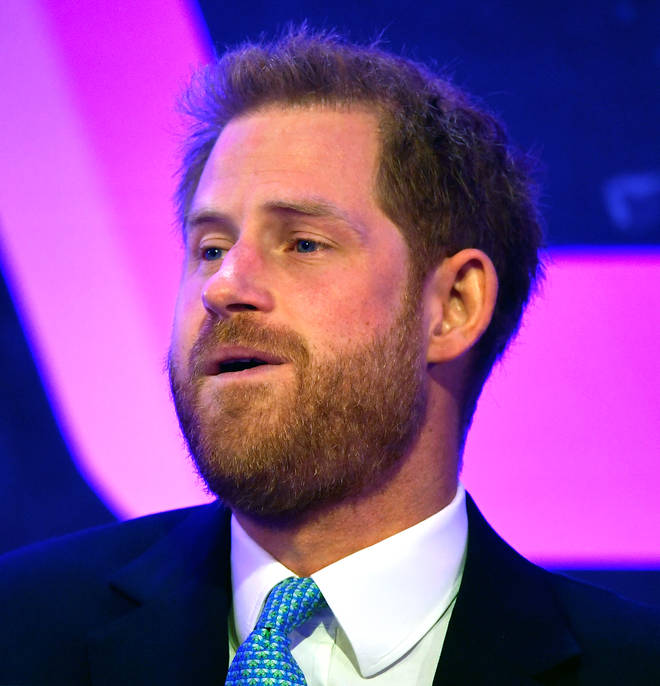 Prince Harry welling up at the awards ceremony