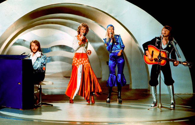 ABBA performing at the Eurovision Song Contest in 1974