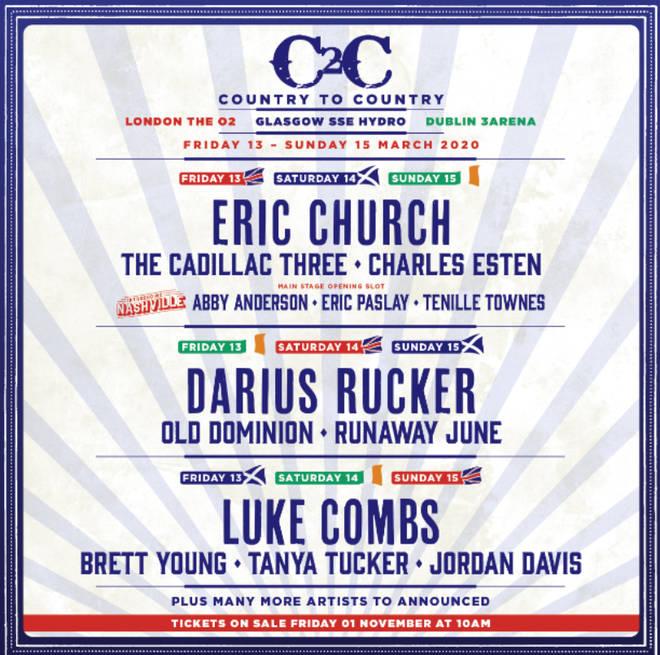 C2C 2020 lineup
