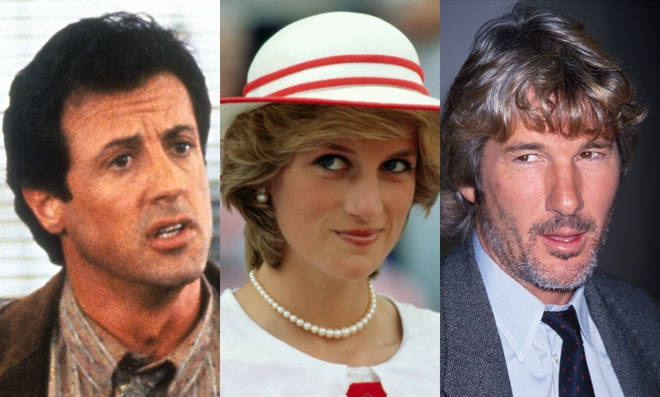 Sylvester Stallone, Princess Diana and Richard Gere were all at a dinner party at Elton John's house when the incident took place.