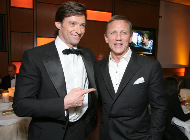Hugh Jackman with James Bond star Daniel Craig