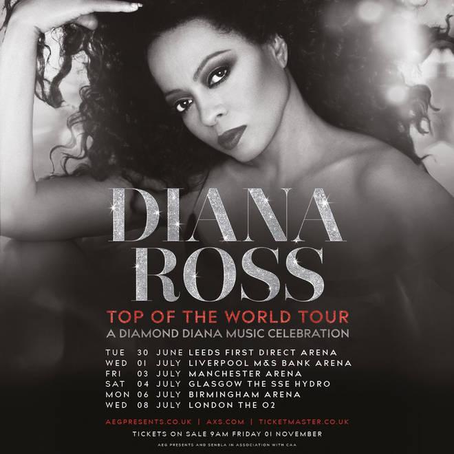 A Diamond Diana Music Celebration tour dates