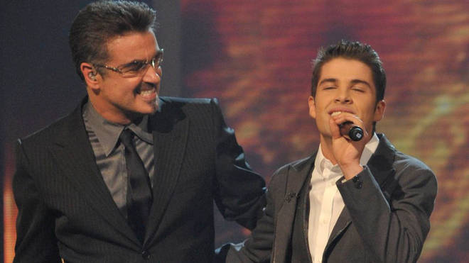 George Michael and Joe McElderry on The X Factor
