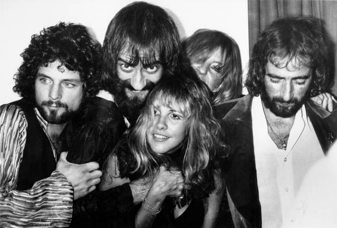 Fleetwood Mac backstage at the Los Angeles Rock Awards on September 1, 1977 in Los Angeles, California