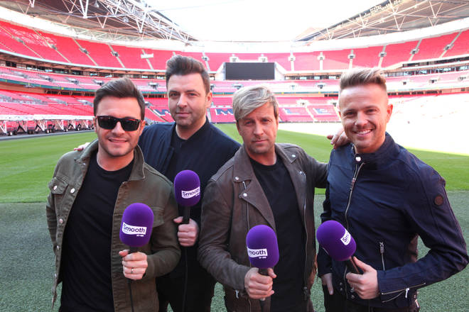 Westlife speaking to Smooth Radio to announce their UK tour at Wembley Stadium