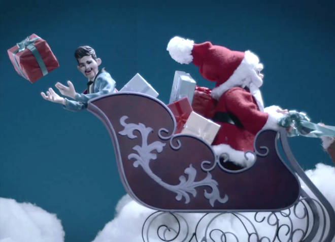 Michael Bublé in his animated 'White Christmas' music video