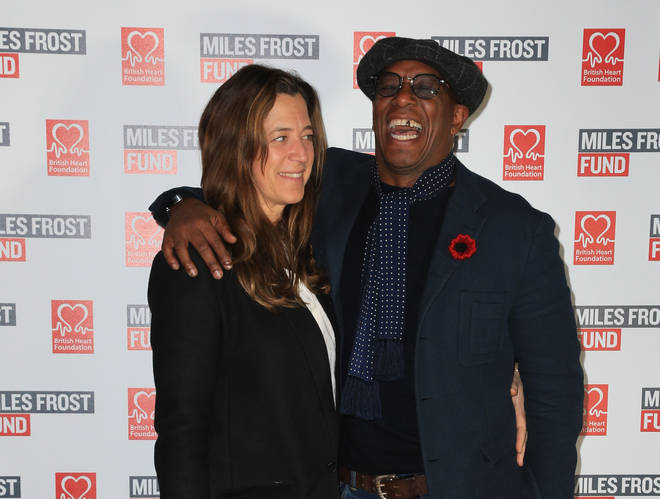 Ian Wright and wife Nancy Hallam