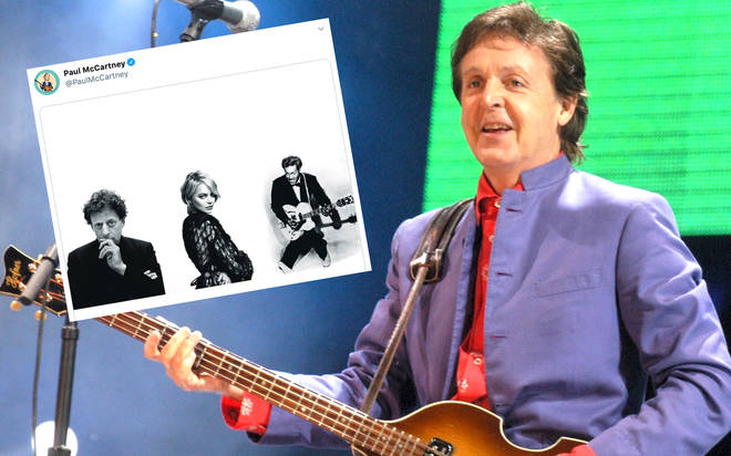Paul McCartney performing at Glastonbury in 2004 along with his new cryptic tweet