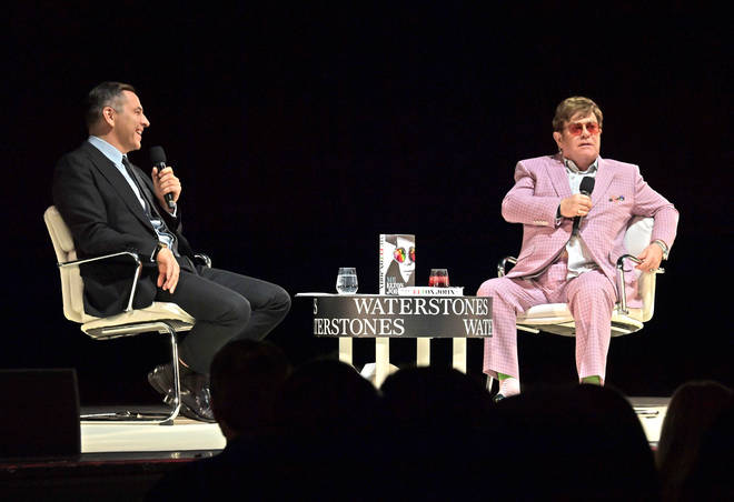 David Walliams leading the questions at 'An Evening With Elton John'